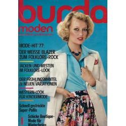 burda Moden 1/Januar 1977 - Mode Hit 77