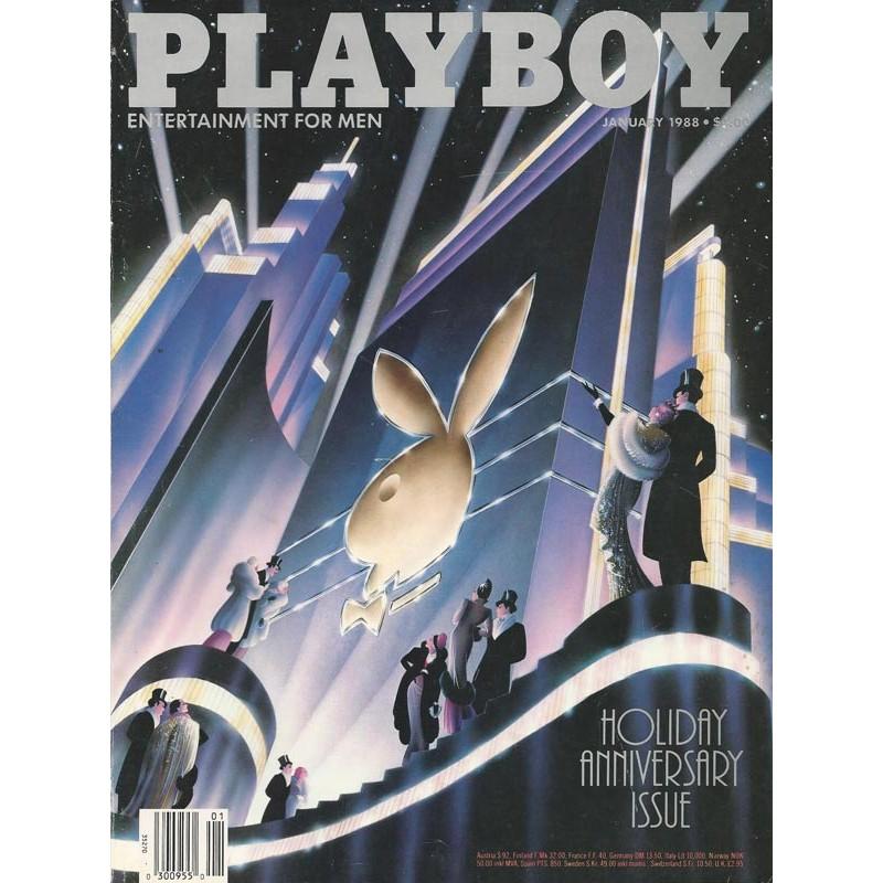 Playboy USA Nr.1 / Jan. 1988 - Rabbit Head