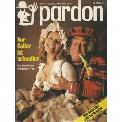 pardon Heft 3 / März 1974 - Nur geller ist schneller