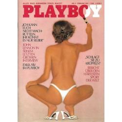 Playboy Nr.2 / Februar 1981 - Barbara Flommersfeld