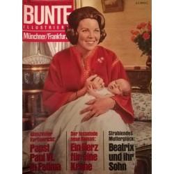 Bunte Illustrierte Nr.23 / 31 Mai 1967 - Beatrix und ihr Sohn