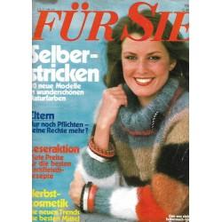 Für Sie Heft 19 / 1 September 1977 - Selberstricken