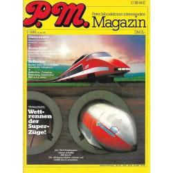 P.M. Ausgabe Juli 7/1981 - Wettrennen der Superzüge