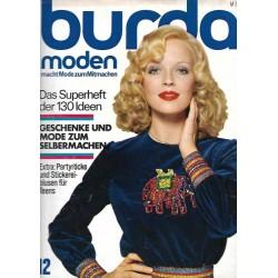 burda Moden 12/Dezember 1973 - Stickereiblusen für Teens