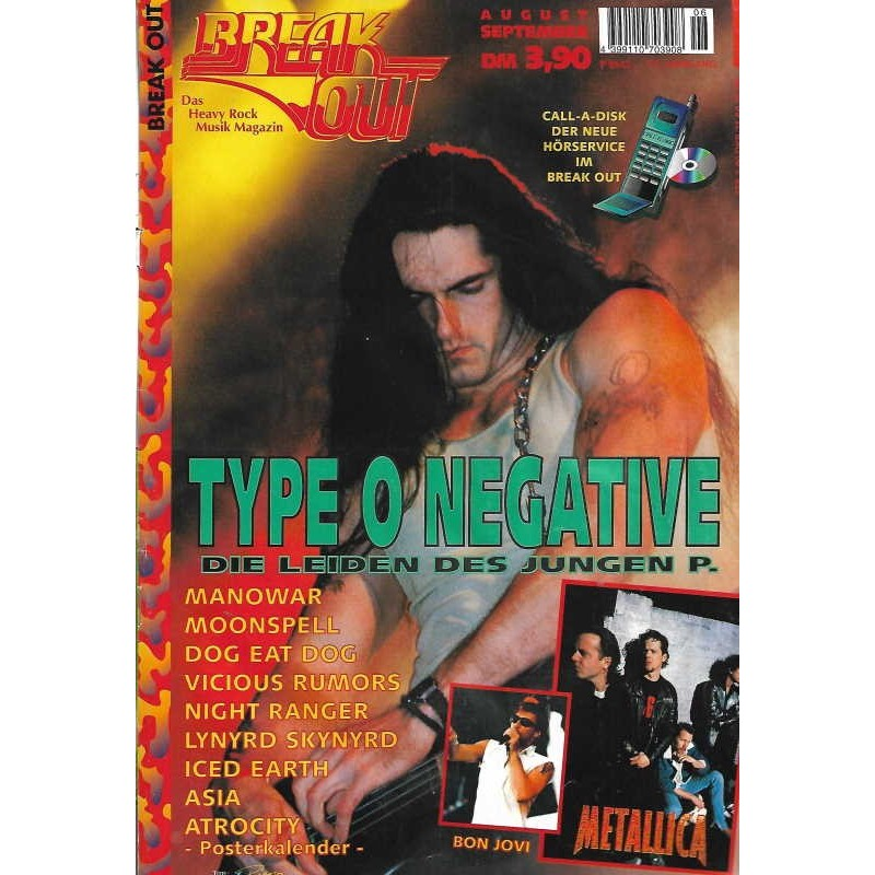 Breakout Nr.6 / Aug./Sep. 1996 - Type O Negative