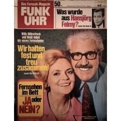 Funk-Uhr Nr. 42 / 17 bis 23 Oktober 1970 - Heidi Kabel & Willy