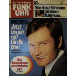 Funk-Uhr Nr. 27 / 4 bis 10 Juli 1970 - Fritz Wepper