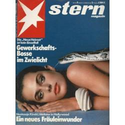 stern Heft Nr.8 / 18 Februar 1982 - Ein neues Fräuleinwunder