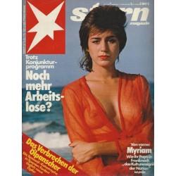 stern Heft Nr.7 / 11 Februar 1982 - Von vorne: Myriam