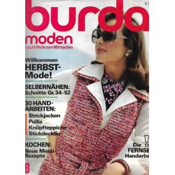 burda Moden 8/August 1973 - Willkommen Herbstmode!