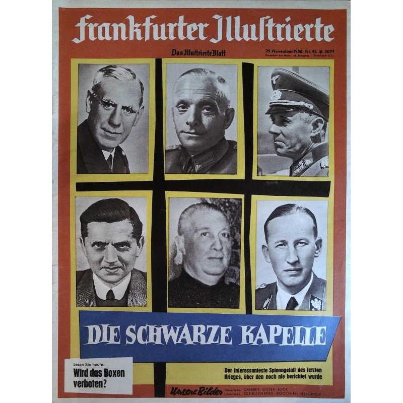 Frankfurter Illustrierte Nr.48 / 29 November 1958 - Die schwarze Kapelle