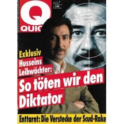 Quick Heft Nr.7  / 7 Februar 1991 - Husseins Leibwächter