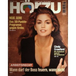HÖRZU 1 / 7 bis 13 Januar 1994 - Cindy Crawford