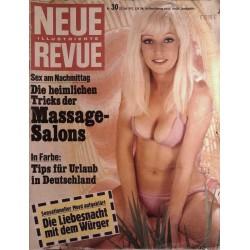 Neue Revue Nr.30 / 22 Juli 1972 - Massage Salons