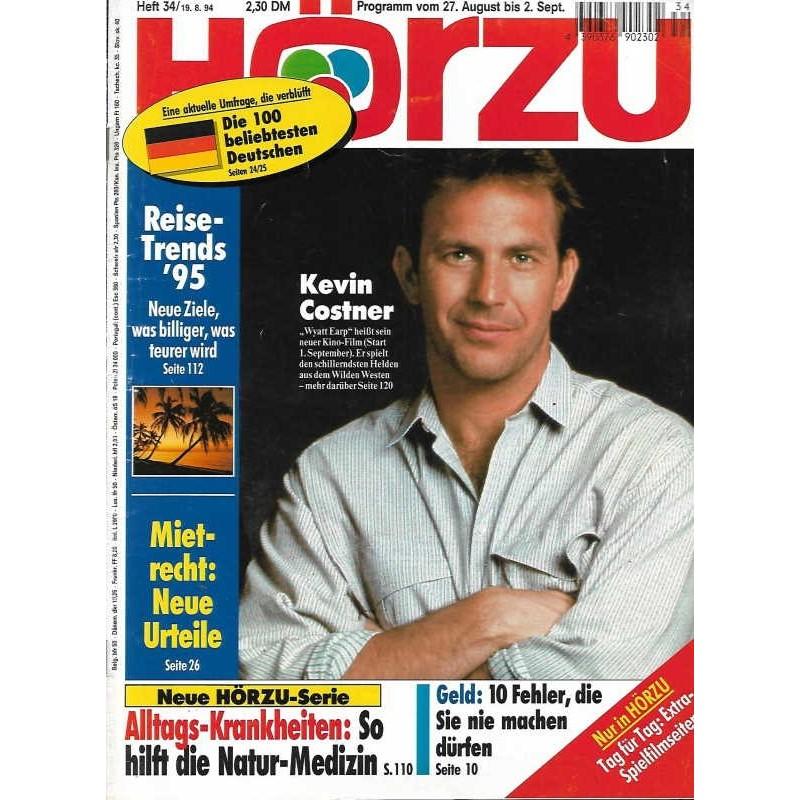 HÖRZU 34 / 27 Aug. bis 2 Sep. 1994 - Kevin Costner