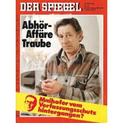 Der Spiegel Nr.11 / 7 März 1977 - Abhör Affäre Traube