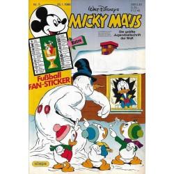 Micky Maus Nr.5 / 25 Januar 1986 - Fußball Fan Sticker