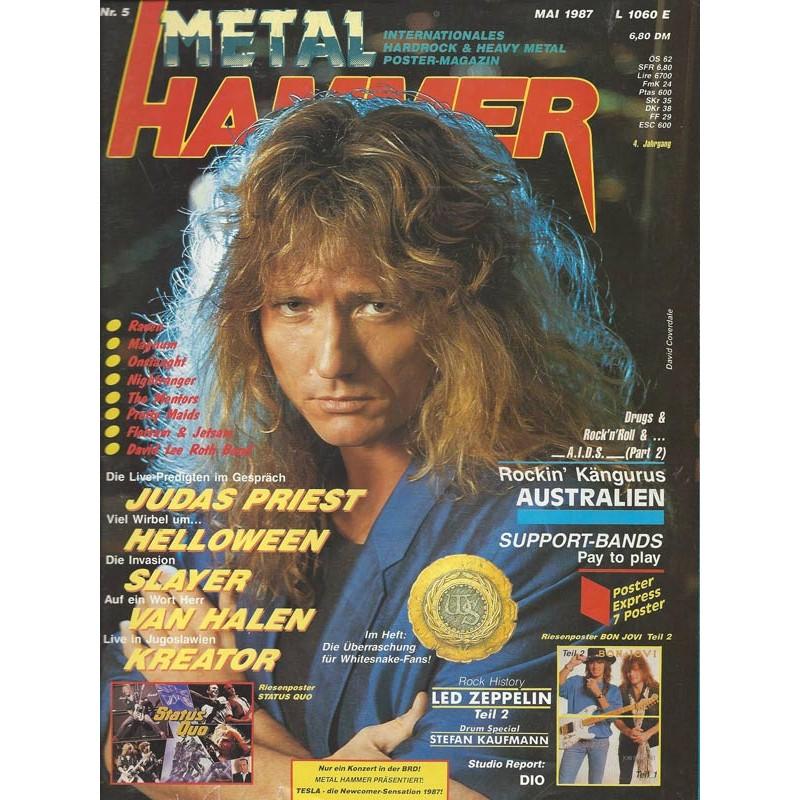 Metal Hammer Heft 5 Mai von 1987