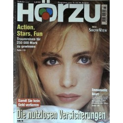 HÖRZU 33 / 19 bis 25 August 1995 - Emmanuelle Beart
