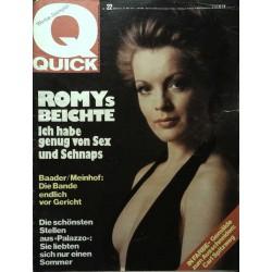 Quick Heft Nr.22 / 22 Mai 1975 - Romys Beichte