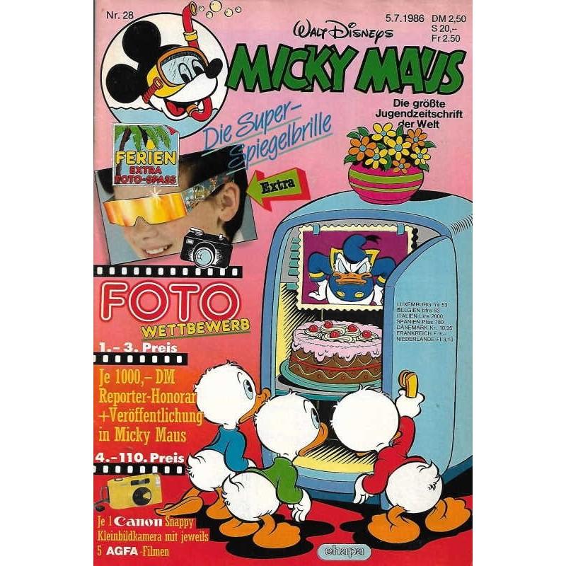 Micky Maus Nr.28 / 5 Juli 1986 - Die Super Spiegelbrille