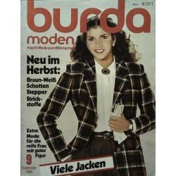 burda Moden 9/September 1980 - Neu im Herbst