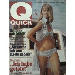 Quick Heft Nr.33 / 14 August 1966 - Schlank mit Quick
