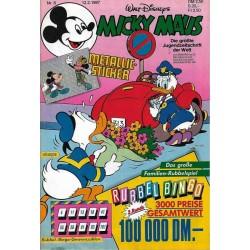Micky Maus Nr.8 / 12 Februar 1987 - Metallic Sticker & Bingo