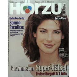 HÖRZU 49 / 9 bis 15 Dezember 1995 - Sandra Bullock