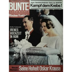 Bunte Illustrierte Nr.21 / 20 Mai 1964 - Irenes Hochzeit in Rom
