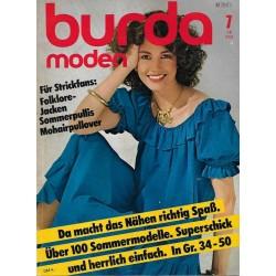 burda Moden 7/Juli 1981 - Für Strickfans