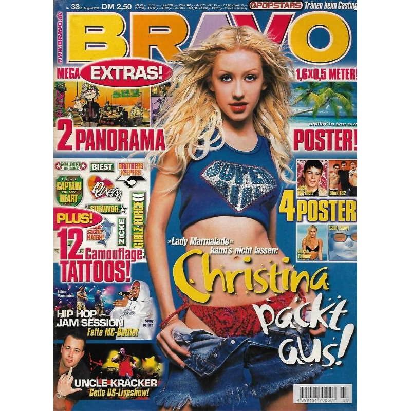 BRAVO Nr.33 / 8 August 2001 - Christina packt aus!