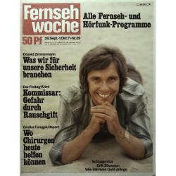 Fernsehwoche Nr. 39 / 25 Sept. bis 1 Okt. 1971 - Erik Silvester