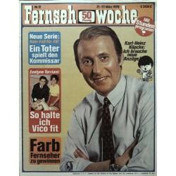 Fernsehwoche Nr. 12 / 21 bis 27 März 1970 - Karl-Heinz Köpcke