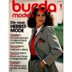 burda Moden 8/August 1981 - Die neue Herbstmode