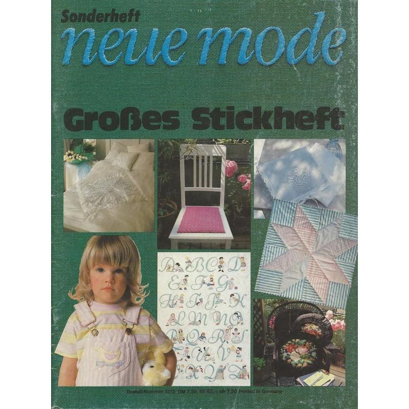 Neue Mode Sonderheft von 1985 - Großes Stickheft