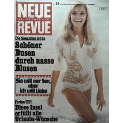 Neue Revue Nr.24 / 13 Juni 1971 - Nasse Blusen