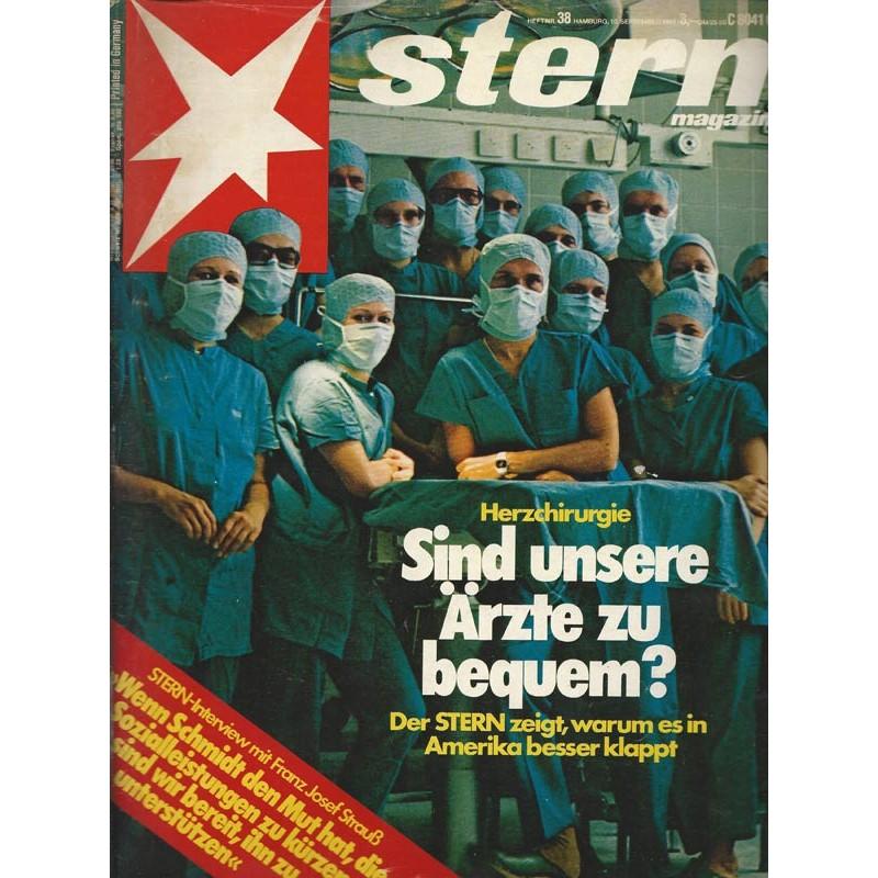 stern Heft Nr.38 / 10 September 1981 - Herzchirugie