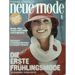 neue mode 1/Januar 1977 - Frühlingsmode