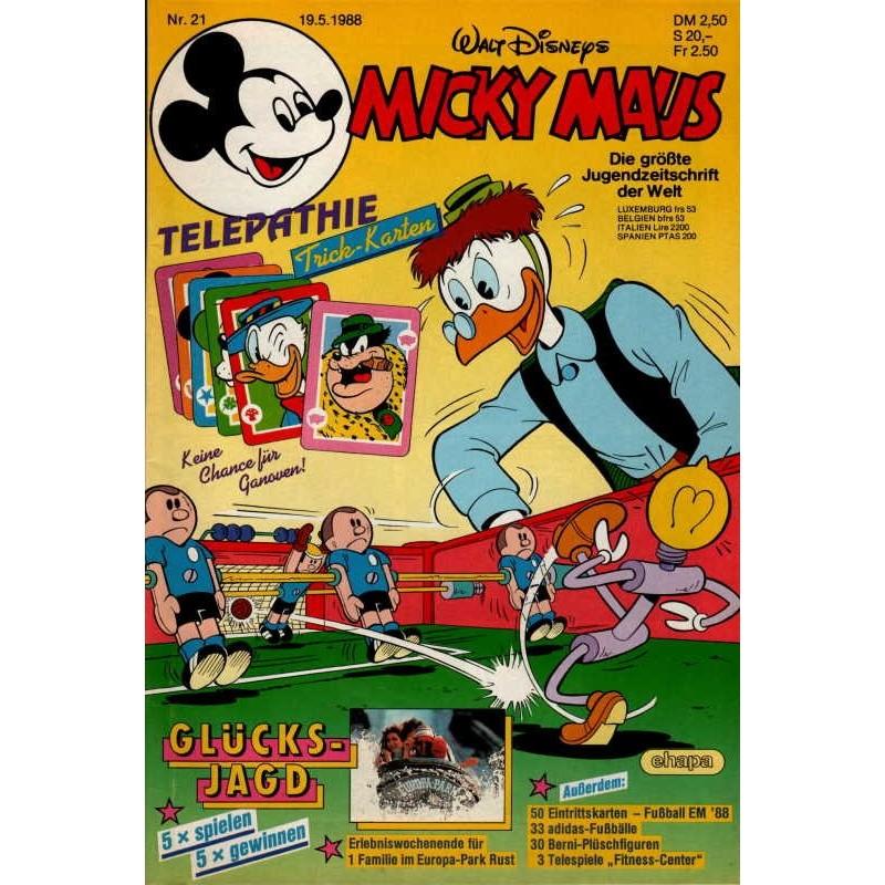 Micky Maus Nr. 21 / 19 Mai 1988 - Telepathie