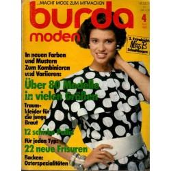 burda Moden 4/April 1985 - Neue Farben und Mustern