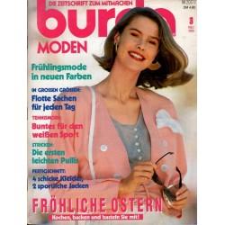 burda Moden 3/März 1989 - Frühlingsmode in neuen Farben