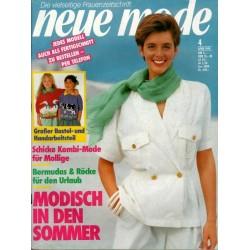 neue mode 4/April 1990 - Modisch in den Sommer