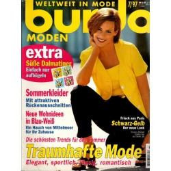 burda Moden 7/Juli 1997 - Schwarz-Gelb