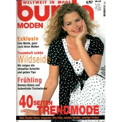 burda Moden 4/April 1997 - 40 Seiten Trendmode