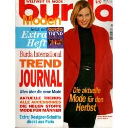 burda Moden 9/September 1997 - Rot und Camel