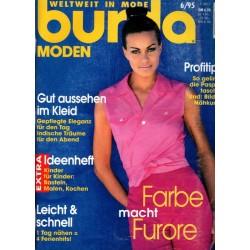 burda Moden 6/Juni 1995 - Farbe macht Furore