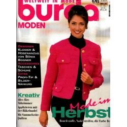 burda Moden 9/September 1995 - Mode im Herbst