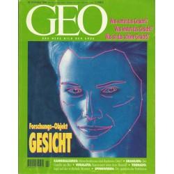 Geo Nr. 10 / Oktober 1994 - Forschungs Objekt Gesicht