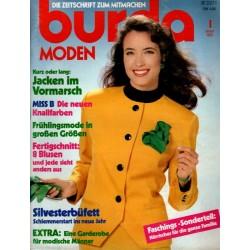 burda Moden 1/Januar 1989 - Jacken im Vormarsch